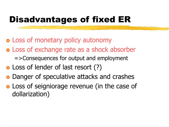 advantages and disadvantages of monetary policy List of disadvantages of monetary policy 1 despite expansionary monetary policy, there is still no guaranteed economy recovery some economists who criticize the federal reserve on the policy say that in times of recession, not all consumers will have confidence to spend and take advantage of low interest rates.