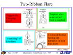 two ribbon flare