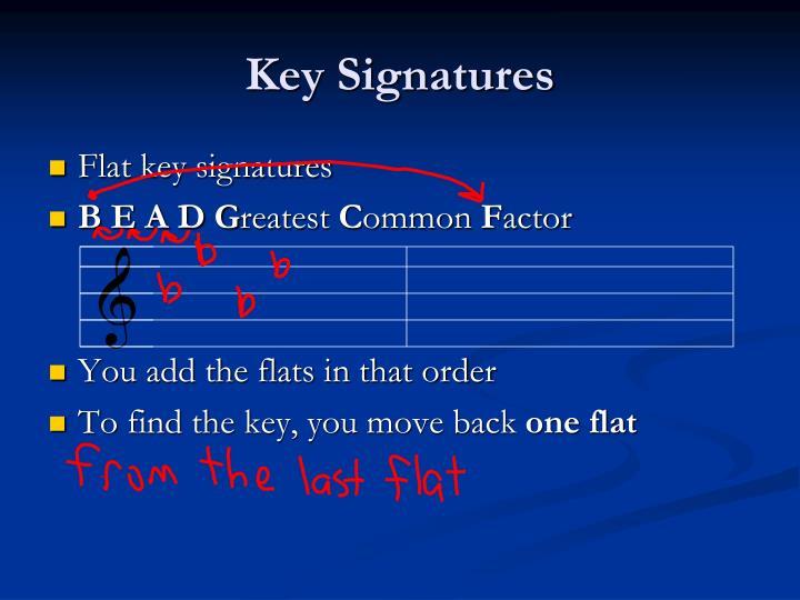 Key Signatures