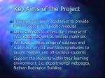 key aims of the project