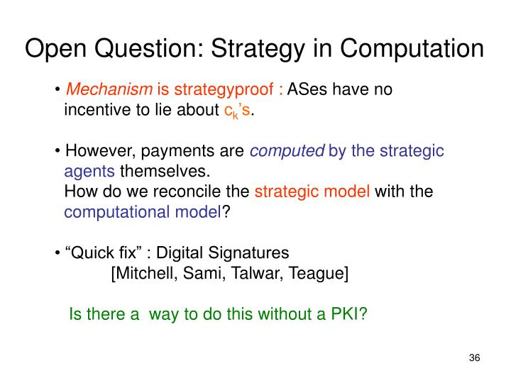 Open Question: Strategy in Computation