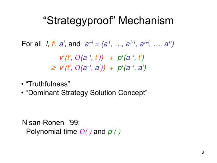 """Strategyproof"" Mechanism"