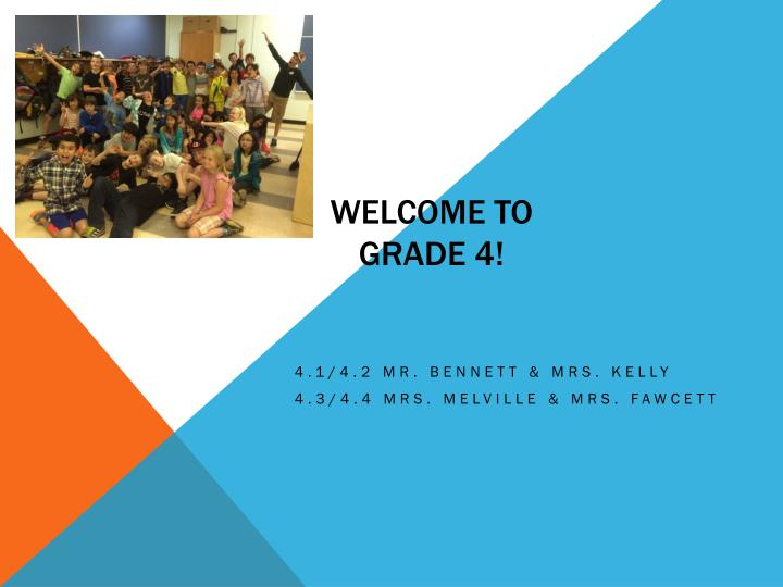 welcome to grade 4 n.