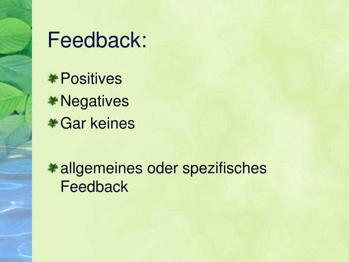 PPT - Feedback(regeln) PowerPoint Presentation - ID:4107803