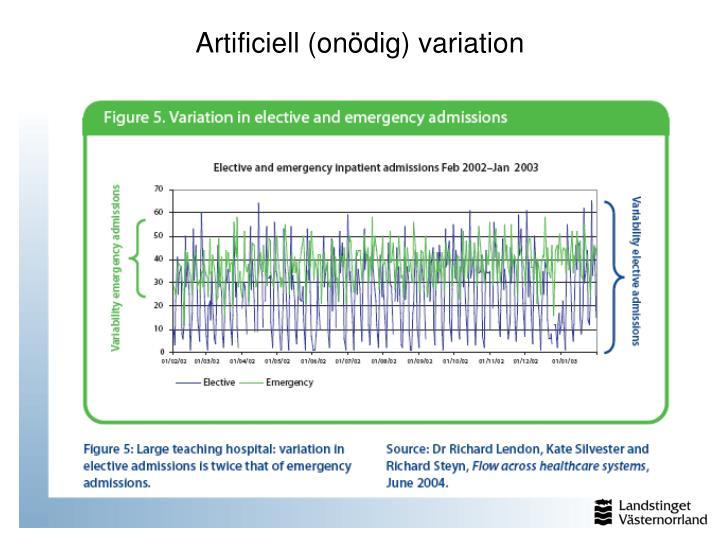 Artificiell (onödig) variation
