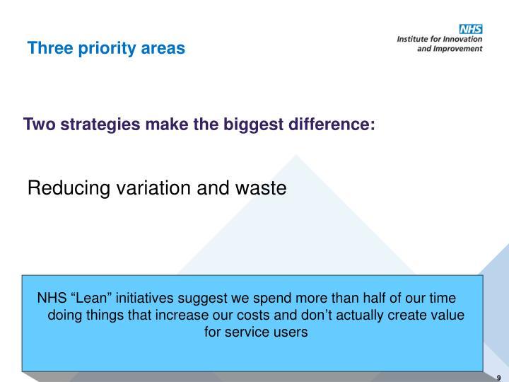 Three priority areas