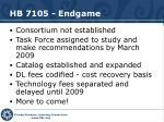 hb 7105 endgame