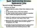 basic referencing systems reference lists1