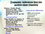 examples reference lists for author date citations1