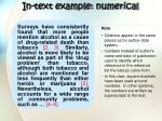 in text example numerical