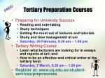 tertiary preparation courses