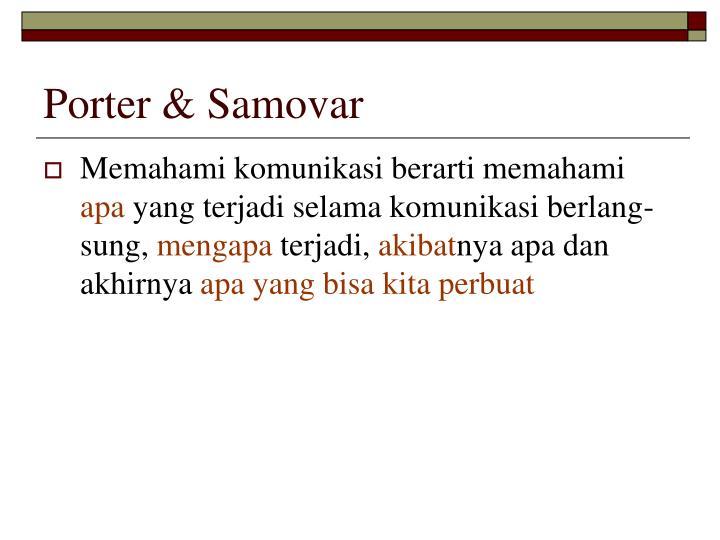 Porter & Samovar