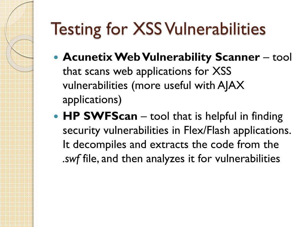 PPT - Cross-Site Scripting (XSS) Vulnerability in AJAX and