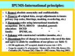 ipums international principles