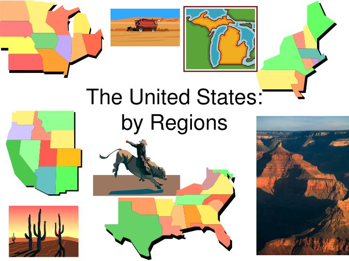 The united states by regions