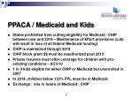 ppaca medicaid and kids