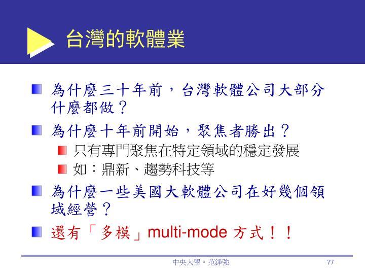 台灣的軟體業