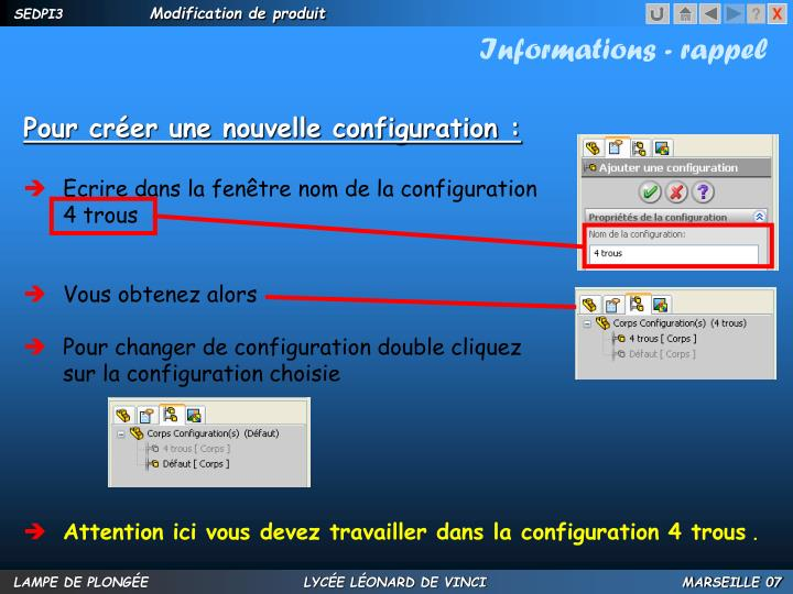 Informations - rappel