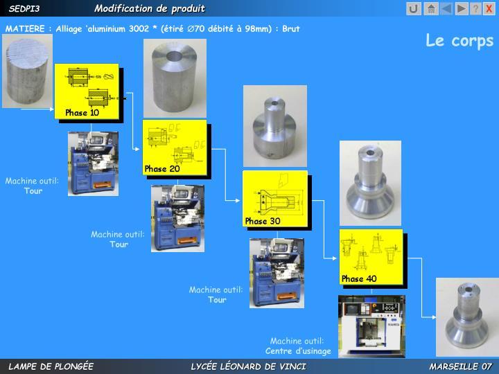MATIERE : Alliage 'aluminium 3002 * (étiré