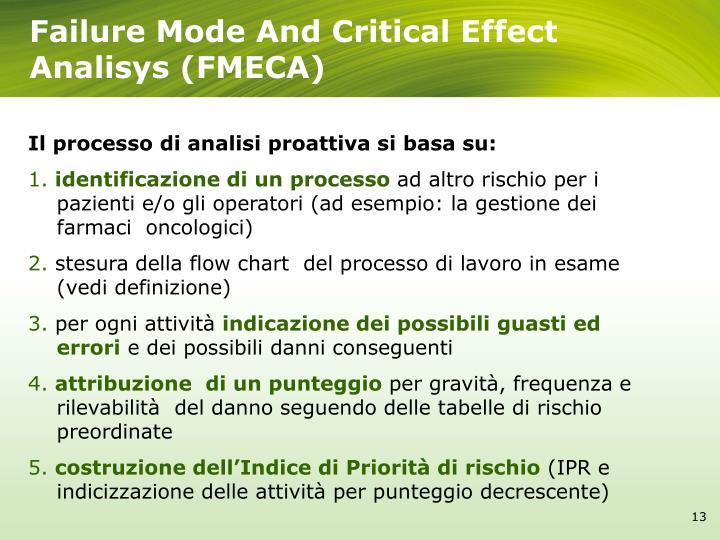 Failure Mode And Critical Effect