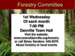 forestry committee