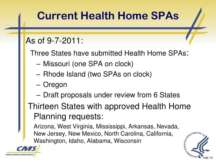 Current Health Home SPAs