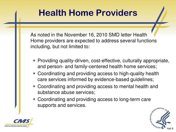 Health Home Providers