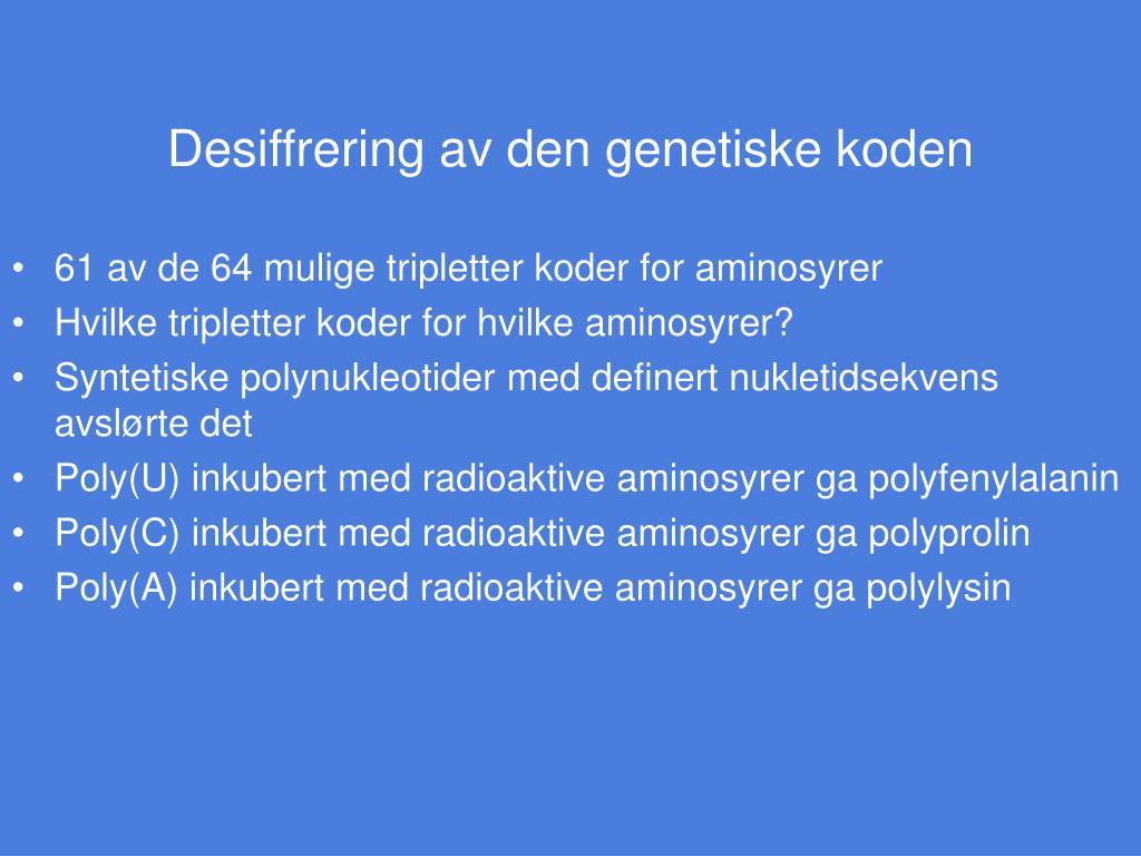 Genetiske koden