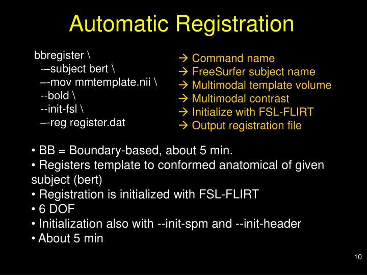 Automatic Registration