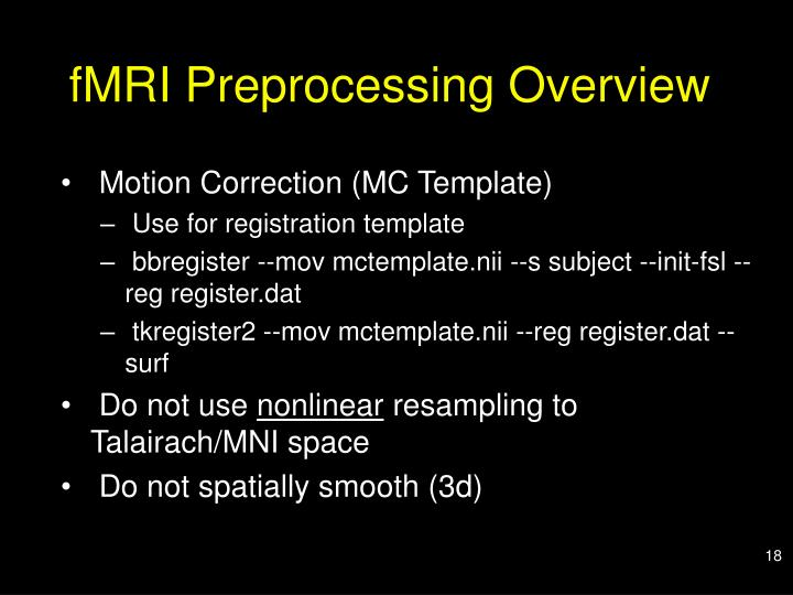 fMRI Preprocessing Overview