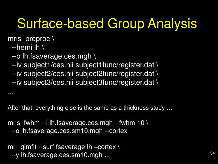Surface-based Group Analysis