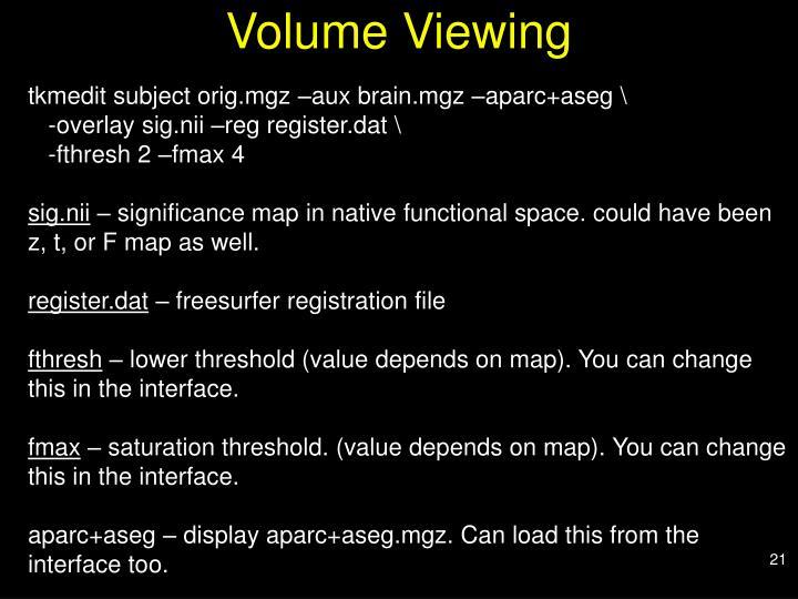 Volume Viewing