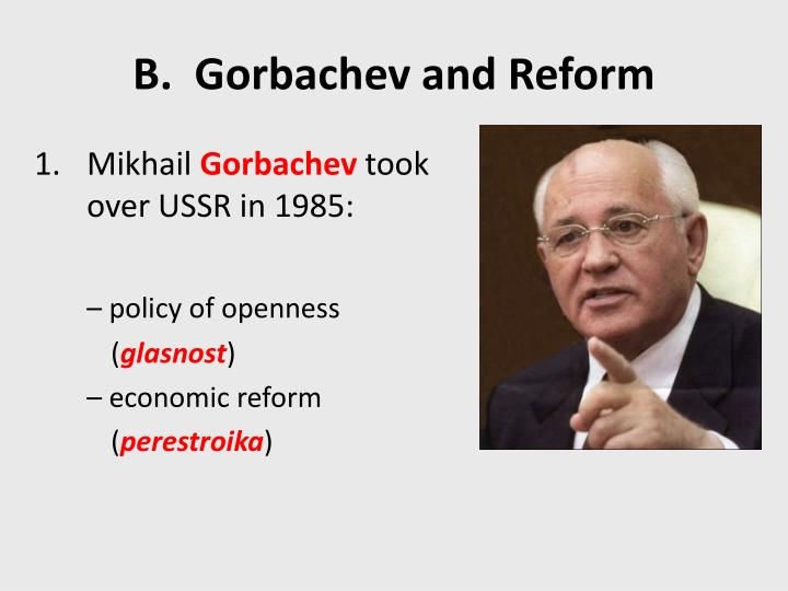 what impact did glasnost openness perestroika restructuring and demokratizatsiia democratization hav What impact did gorbachev's ideas of glasnost (openness), perestroika (restructuring), and demokratizatsiia (democratization).