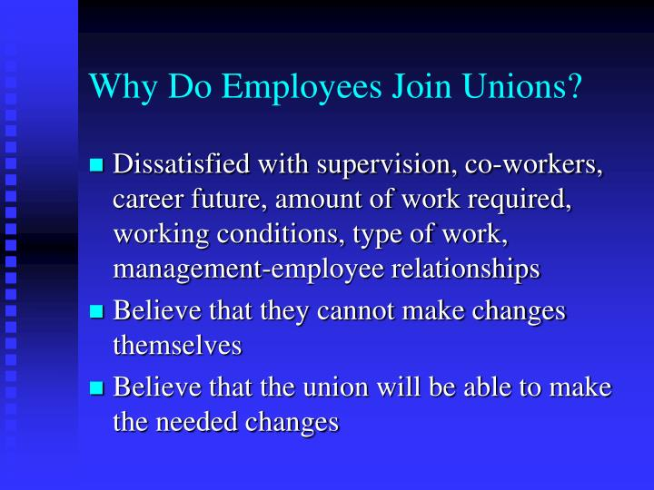 disadvantages of labor unions essay In theory, labor unions are a brilliant way to balance the power between employers and employees union workers enjoy undeniable advantages, ranging from the tangible benefit of higher wages to the personal satisfaction of knowing their voices are recognized in the workplace.