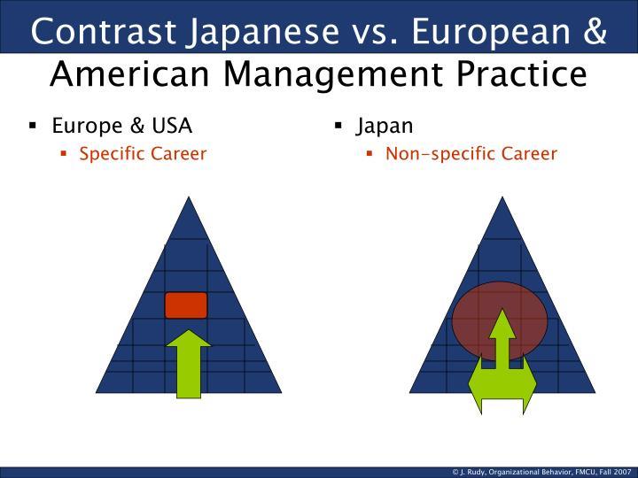 Contrast Japanese vs. European &