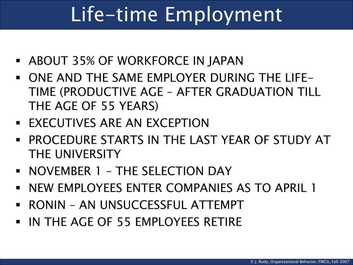 Life-time Employment