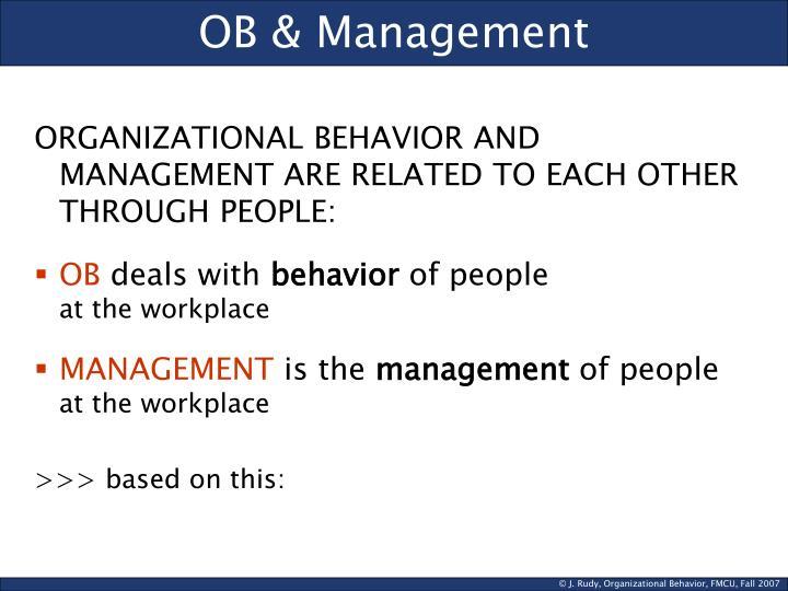 OB & Management