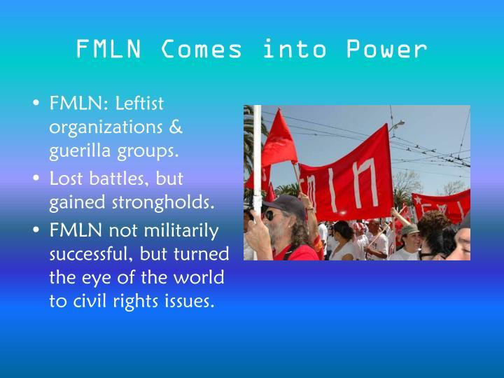 FMLN Comes into Power
