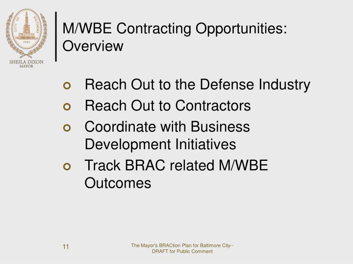 M/WBE Contracting Opportunities: Overview