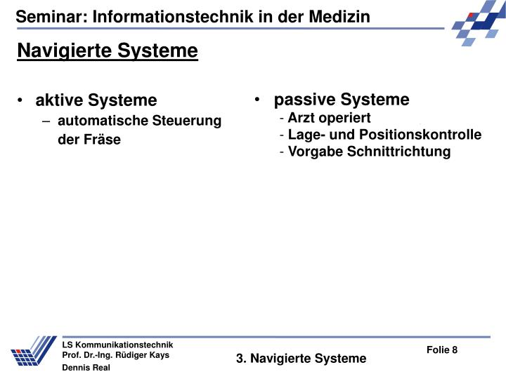 Navigierte Systeme