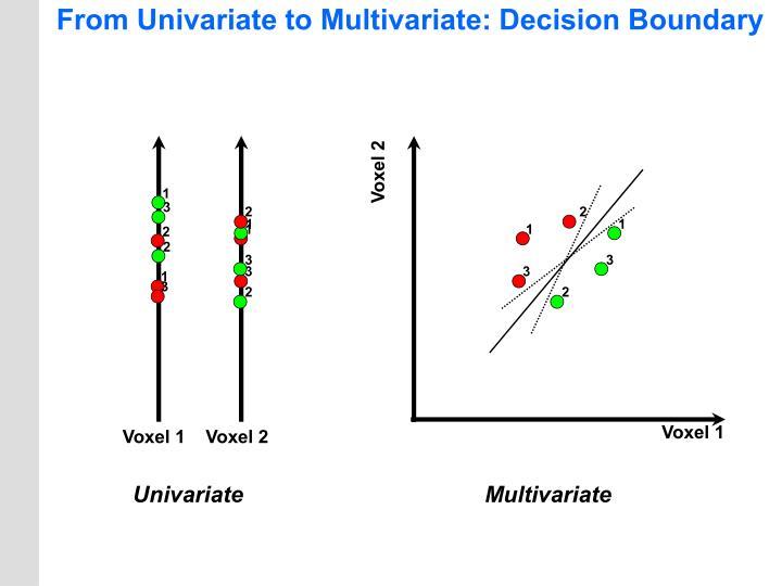 From Univariate to Multivariate: Decision Boundary