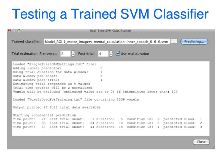 Testing a Trained SVM Classifier