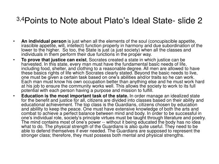 what are the characteristics of plato s ideal state Plato's three parts of the soul sometimes plato's division of the psyche into its three main elements can be easily misunderstood.