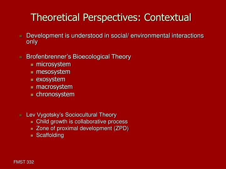 theoretical perspectives in child development