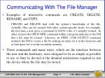 communicating with the file manager2
