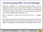 communicating with the file manager3