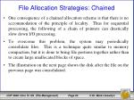 file allocation strategies chained2