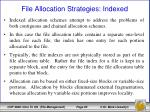 file allocation strategies indexed