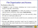 file organization and access19