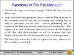 functions of the file manager